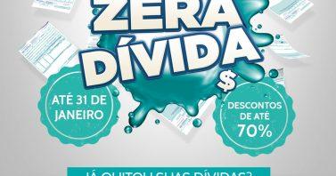 Zera Dívida segue por mais 10 dias com descontos de até 70% para clientes da Águas de Bombinhas